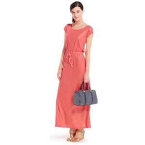 Tommy Hilfiger shimmer drawstring maxi dress